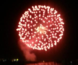 beach, firework, and fireworks image