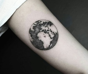 tattoo, world, and earth image