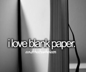 Paper and blank paper image