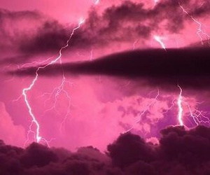 pink, clouds, and light image