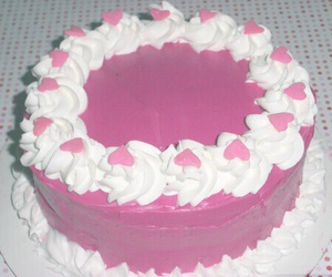 cake, pink, and aesthetic image