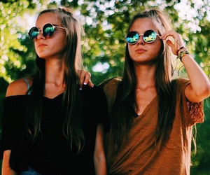 fashion, girls, and glasses image