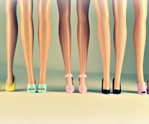 barbie, legs, and shoes image