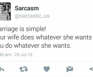 funny, marriage, and quotes image