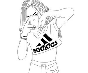 adidas, outline, and tumblr image