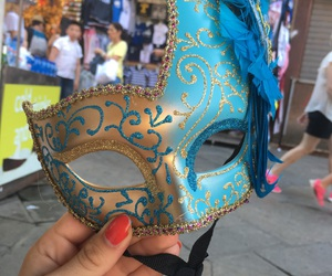 blue, italy, and mask image