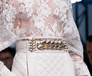 fashion, white, and Balmain image