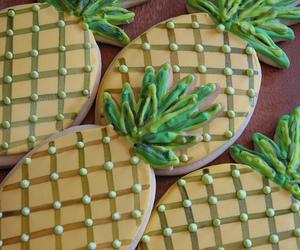 food, pineapple, and Cookies image