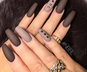 nails, brown, and black image