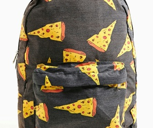 pizza, backpack, and bag image