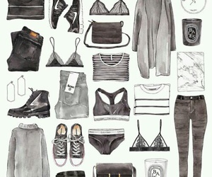 clothes, illustration, and fashion image