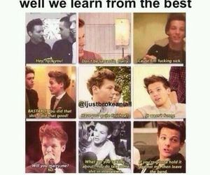 one direction, louis tomlinson, and funny image