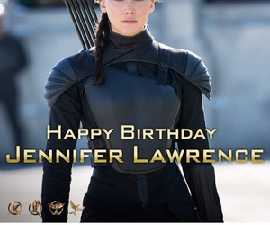 birthday, Jennifer Lawrence, and the hunger games image