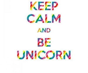 unicorn, keep calm, and rainbow image
