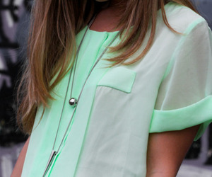 fashion, green, and shirt image