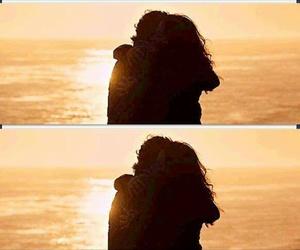 beautiful, couple, and hug image