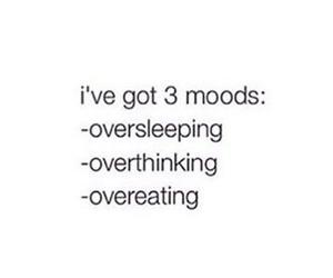 mood, overeating, and overthinking image