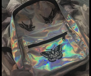 bag, holographic, and tattoo image