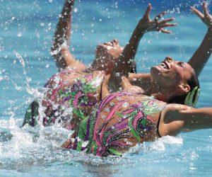 nado sincronizado, rio 2016, and juegos olimpicos image