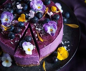 baking, blueberry, and cake image
