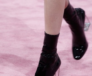 black, boots, and dior image