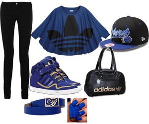 blue, fashion, and swag image
