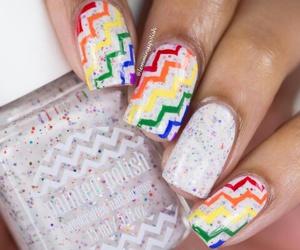 colorfull, nail art, and nails image