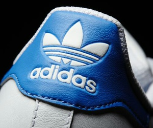 addidas, blue, and superstar shoes image