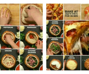 bread, food, and pizza image