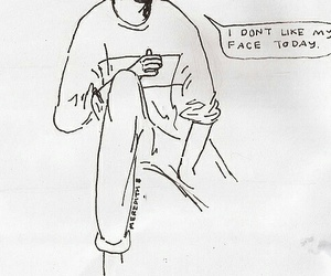 face, grunge, and drawing image