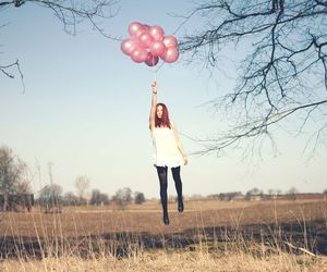 balloons, girl, and photography image