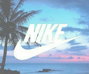 nike, beach, and background image