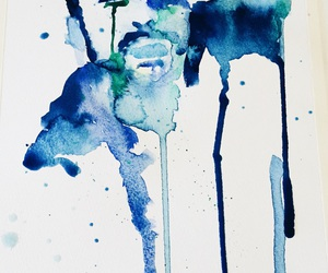 abstract, blue, and water color image