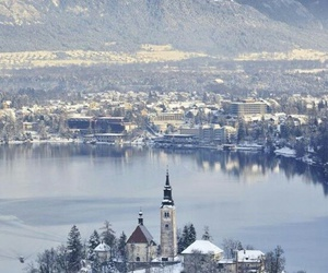winter, slovenia, and nature image