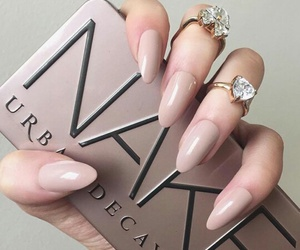 nails, naked, and rosegold image