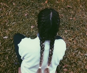 alternative, braids, and cold image
