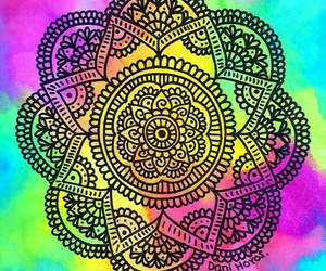 boho, colours, and mandalas image