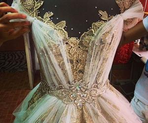 dress, princess, and wedding image