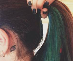 tattoo, hair, and green image