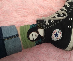 converse, grunge, and socks image