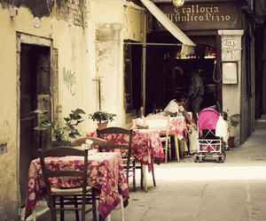 alfresco, cafe, and romance image