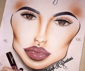 beauty, chart, and eyebrows image