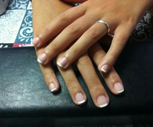 french, nails, and semi-gel image