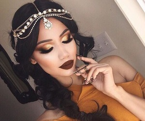 beauty, gold, and pretty image