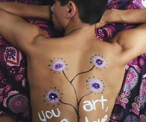 best friends, body paint, and you are art image