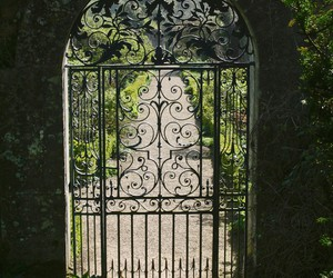 gate and garden image