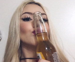 girl, beer, and goals image