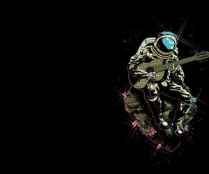 astronaut, nice, and guitar image