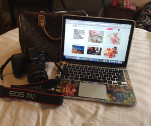 camera, Louis Vuitton, and macbook image