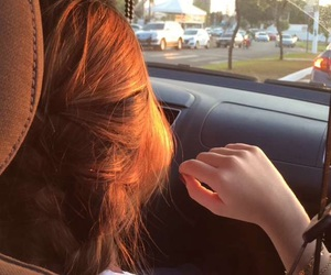 car, hair, and redhead image